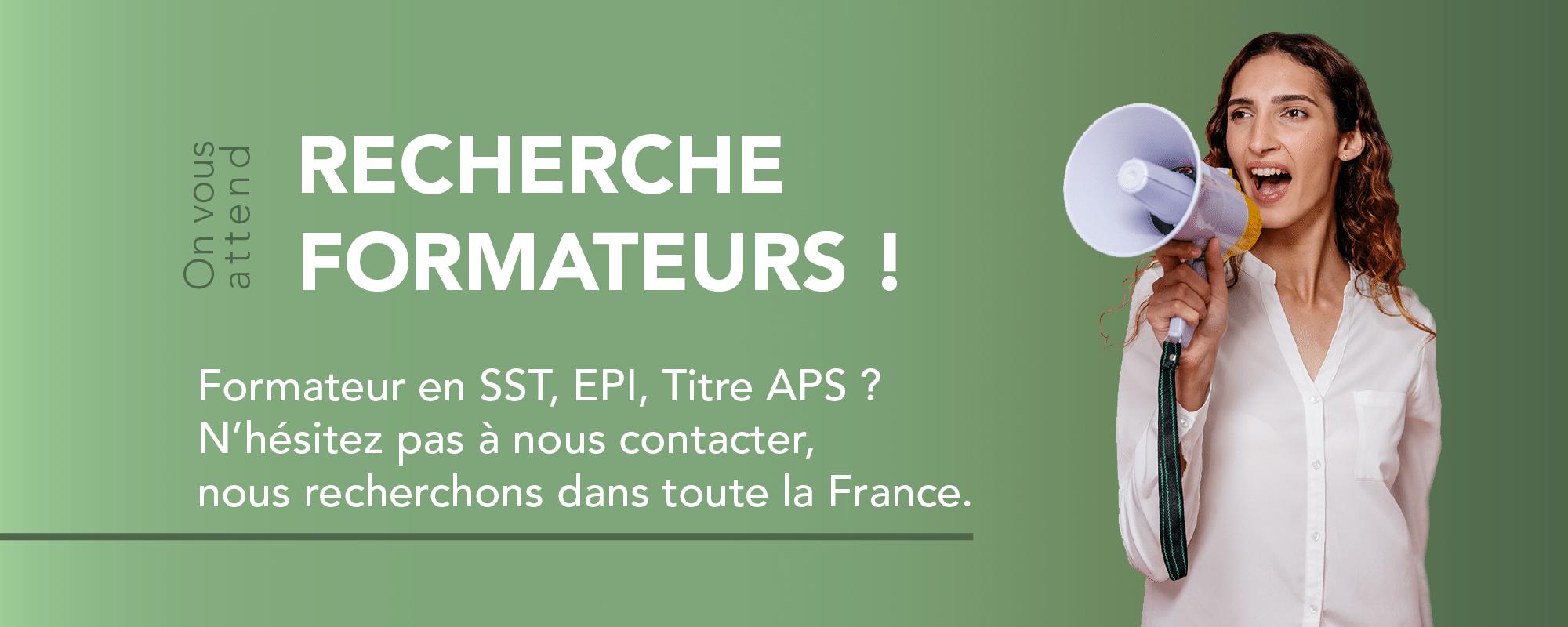 Recrutement formateurs EPI SST Titre APS dans toute la France